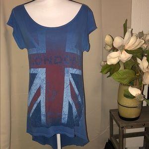 Life clothing co. vintage wash LONDON T